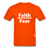 Faith over Fear T-Shirt - orange