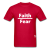 Faith over Fear T-Shirt - red
