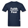 Faith over Fear T-Shirt - navy