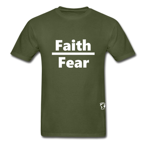Faith over Fear T-Shirt - military green
