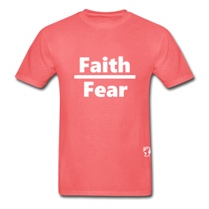Faith over Fear T-Shirt - coral