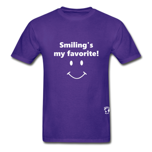 Smiling's My Favorite T-Shirt - purple