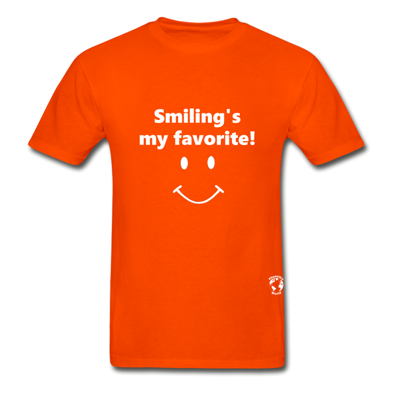 Smiling's My Favorite T-Shirt - orange