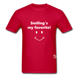 Smiling's My Favorite T-Shirt - red