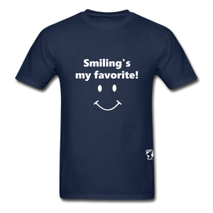 Smiling's My Favorite T-Shirt - navy
