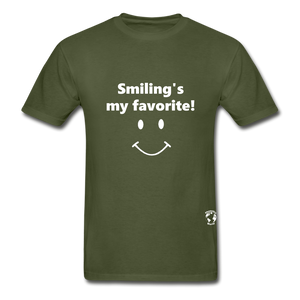 Smiling's My Favorite T-Shirt - military green