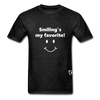 Smiling's My Favorite T-Shirt - charcoal gray