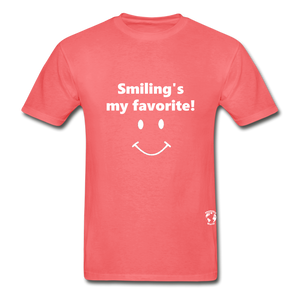 Smiling's My Favorite T-Shirt - coral