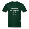 Smiling's My Favorite T-Shirt - forest green