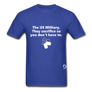 US Military Support T-Shirt - royal blue