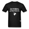 US Military Support T-Shirt - black