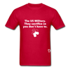 US Military Support T-Shirt - red