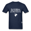 US Military Support T-Shirt - navy