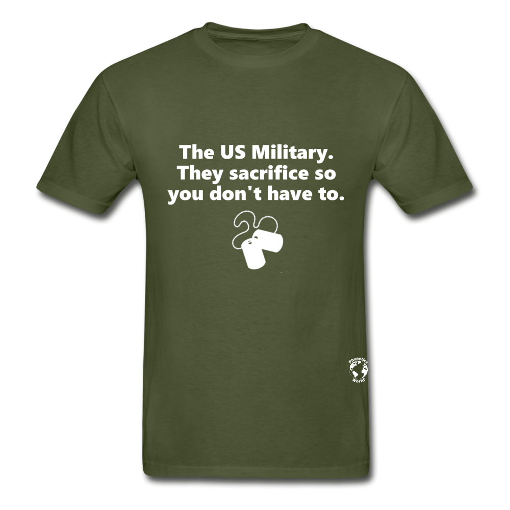 US Military Support T-Shirt - military green