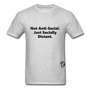 Not Anti-Social T-Shirt - heather gray