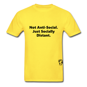 Not Anti-Social T-Shirt - yellow