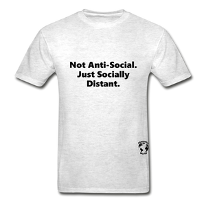 Not Anti-Social T-Shirt - light heather gray
