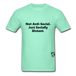 Not Anti-Social T-Shirt - deep mint