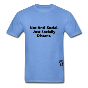 Not Anti-Social T-Shirt - carolina blue