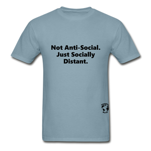 Not Anti-Social T-Shirt - stonewash blue