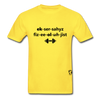 Exercise Physiologist Adult Tagless T-Shirt - yellow