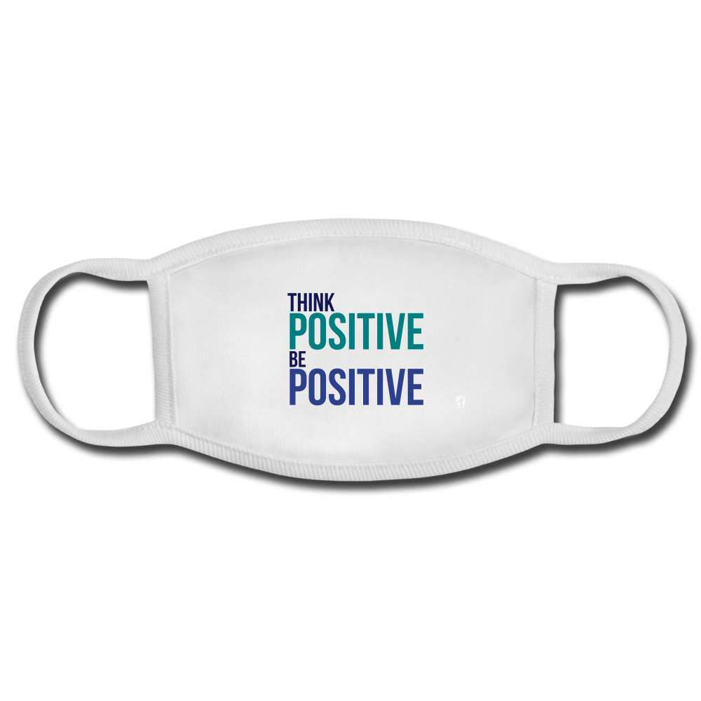 Think Positive Be Positive Face Mask - white/white