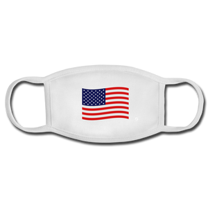 American Flag Face Mask - white/white