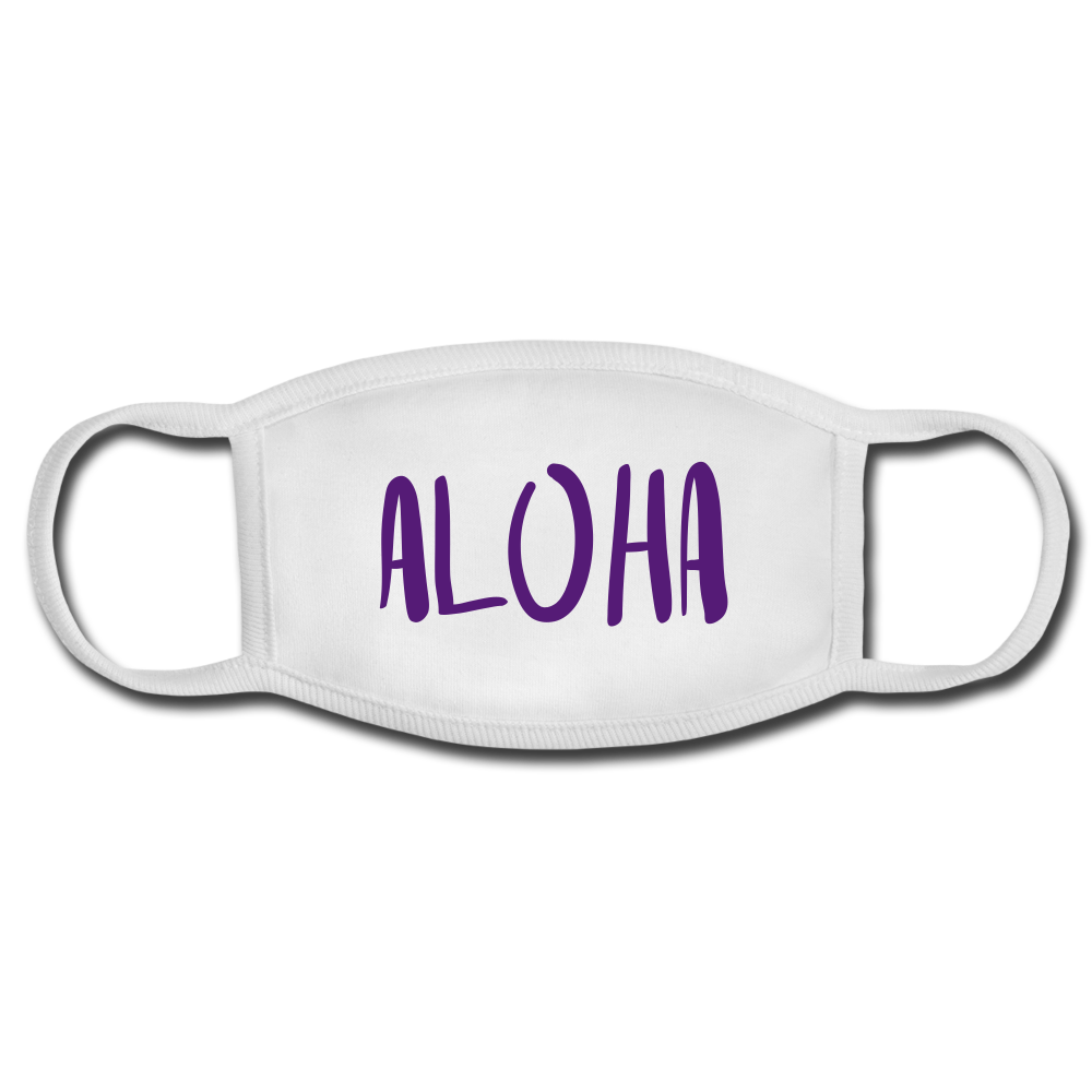 Aloha Face Mask - white/white