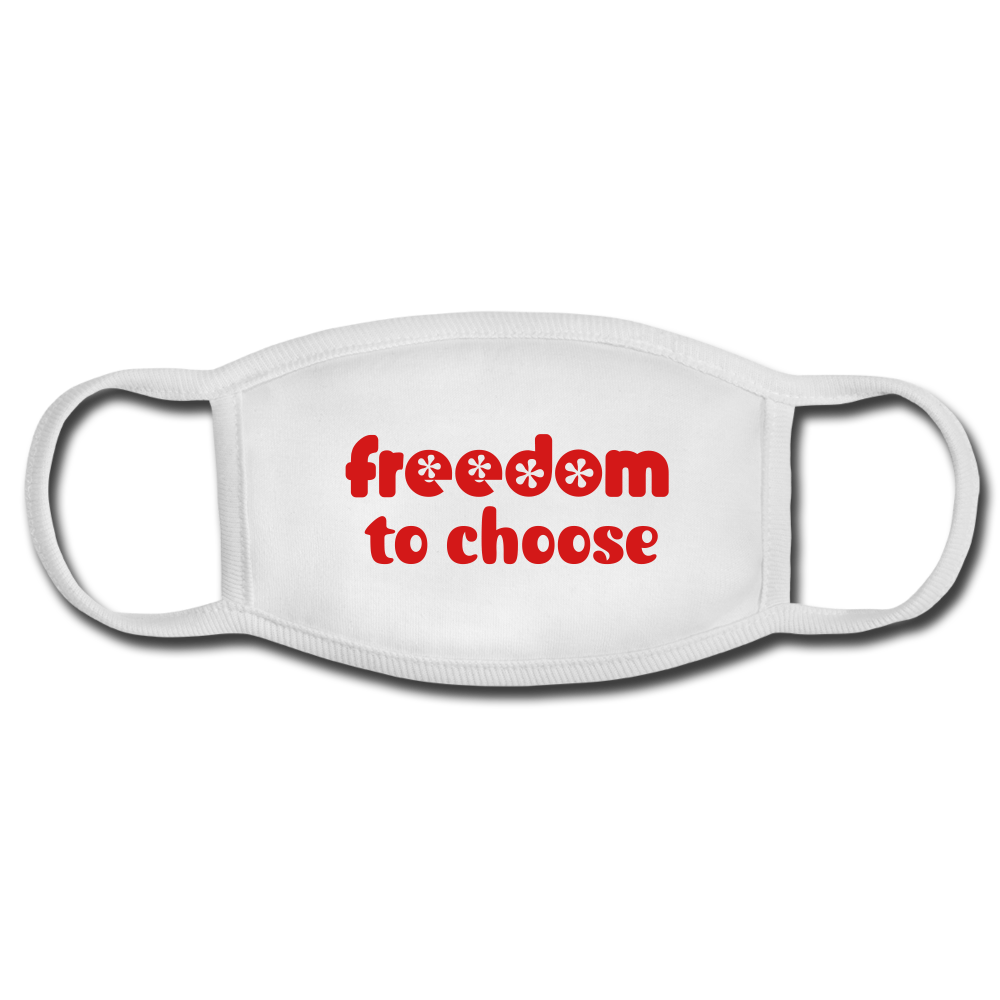 Freedom to Choose Face Mask - white/white