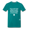 Stand Behind our Police Premium T-Shirt - teal