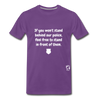 Stand Behind our Police Premium T-Shirt - purple
