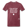 Stand Behind our Police Premium T-Shirt - heather burgundy