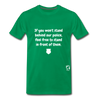 Stand Behind our Police Premium T-Shirt - kelly green