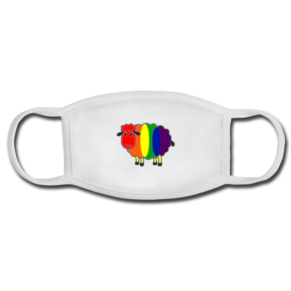 Rainbow Sheep Face Mask - white/white