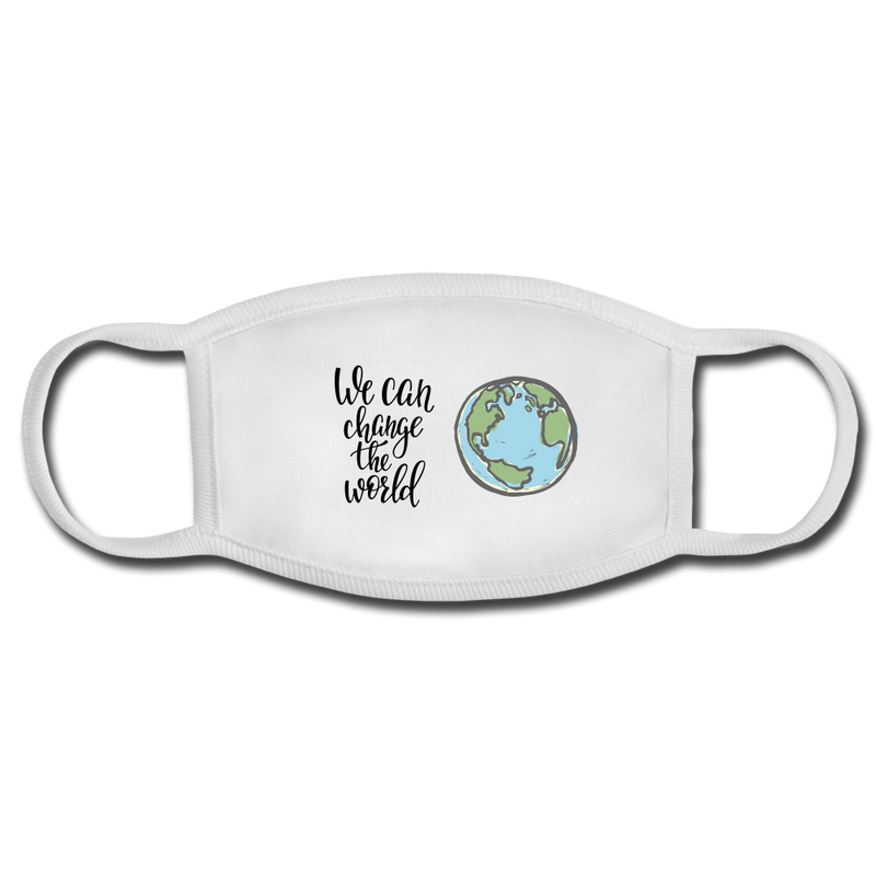 We Can Change the World Face Mask - white/white