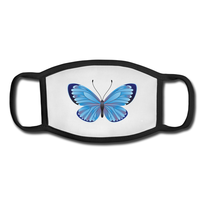 Butterfly Youth Face Mask - white/black