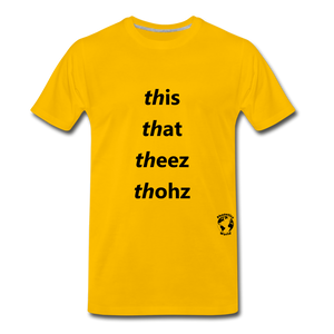 This That These Those T-Shirt - sun yellow