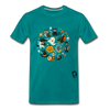 Halloween Premium T-Shirt - teal