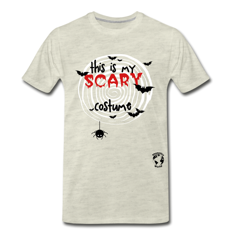 Scary Costume Premium T-Shirt - heather oatmeal