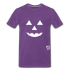 Jack-o-lantern Smile Premium T-Shirt - purple