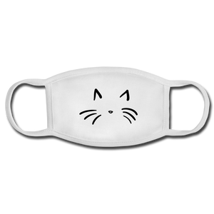 Cat Face Mask - white/white