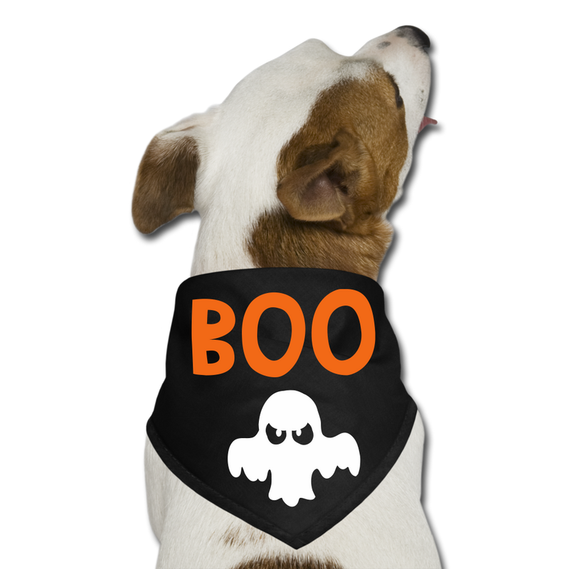 Boo Dog Bandana - black