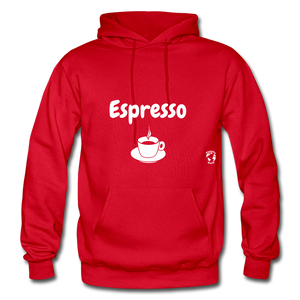 Espresso Gildan Heavy Blend Adult Hoodie - red