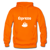 Espresso Gildan Heavy Blend Adult Hoodie - orange