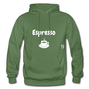 Espresso Gildan Heavy Blend Adult Hoodie - military green