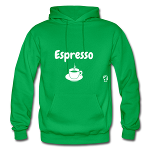 Espresso Gildan Heavy Blend Adult Hoodie - kelly green