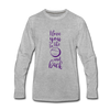 I Love You to the Moon and Back Premium Long Sleeve T-Shirt - heather gray