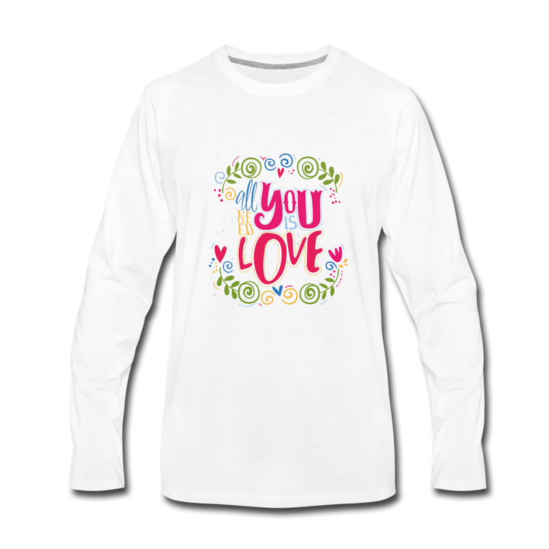 All You Need is Love Premium Long Sleeve T-Shirt - heather gray