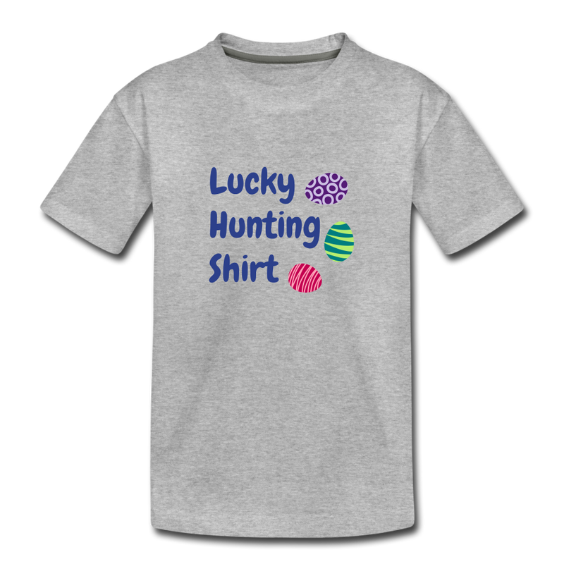 Lucky Hunting Shirt Kids' Premium T-Shirt - heather gray