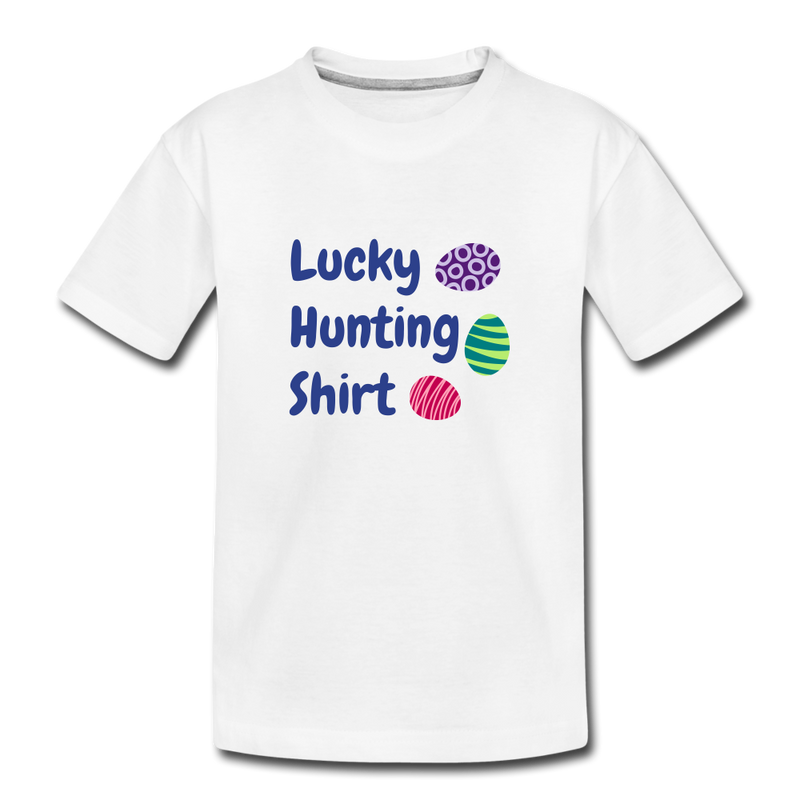 Lucky Hunting Shirt Toddler Premium T-Shirt - white